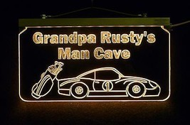 Personalized Man Cave Sign, Bar Sign, Custom LED Sign, Golf Clubs, Race Car image 4