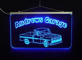 Vintage Truck Garage, Man Cave, LED Acrylic Sign, Custom LED Sign image 2