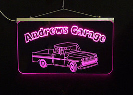 Vintage Truck Garage, Man Cave, LED Acrylic Sign, Custom LED Sign image 5