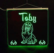 Basset Hound Personalized LED Sign - Man Cave, Kids, Dog, Animal - $155.00