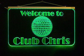 Personalized LED Disco Ball Sign, Bar Sign, Man Cave Sign, Family Name Sign - $140.00