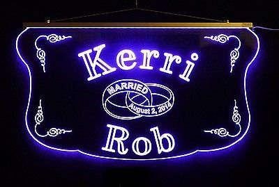 Personalized Wedding Sign, Anniversary Sign  Acrylic Sign LED Color Changing