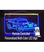Personalized LED Sign, Garage Sign, Race Car Sign, Man Cave Sign, Custom... - $140.00
