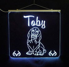 Basset Hound Personalized LED Sign - Man Cave, Kids, Dog, Animal image 3