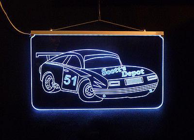 Personalized LED Sign, Garage Sign, Race Car Sign, Man Cave Sign, Custom LED image 3