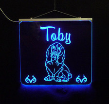 Basset Hound Personalized LED Sign - Man Cave, Kids, Dog, Animal image 2