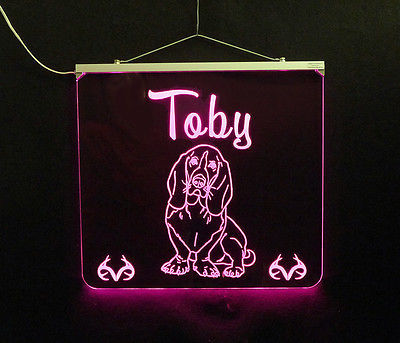 Basset Hound Personalized LED Sign - Man Cave, Kids, Dog, Animal image 5