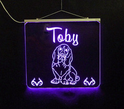 Basset Hound Personalized LED Sign - Man Cave, Kids, Dog, Animal image 6