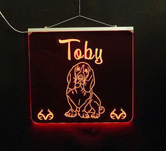 Basset Hound Personalized LED Sign - Man Cave, Kids, Dog, Animal image 7