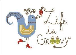Life Is Groovy cross stitch chart Pinoy Stitch - $4.50