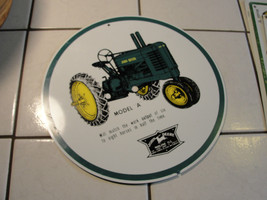 John Deere advertising sign, round, Model A tra... - $59.00