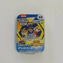 Paw Patrol Mini Puzzle in Collectors Tin Mighty Pups PUP POWER 24 pcs Ne... - $4.99
