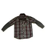 Hawk Brand Long Sleeve Button Up Red Grey Plaid Casual shirt Boys M 5 6 ... - $3.33