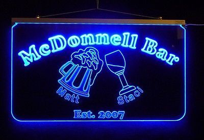 Personalized LED Sign, Bar Sign, Pub Sign, Wedding Sign, Personalized Gift image 2