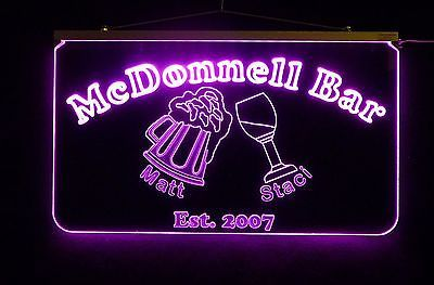 Personalized LED Sign, Bar Sign, Pub Sign, Wedding Sign, Personalized Gift image 4