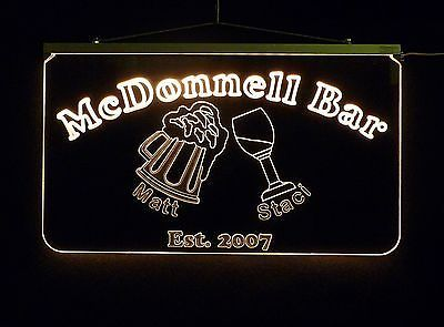 Personalized LED Sign, Bar Sign, Pub Sign, Wedding Sign, Personalized Gift image 5