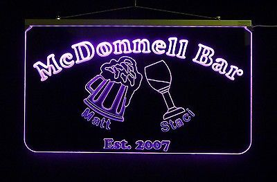 Personalized LED Sign, Bar Sign, Pub Sign, Wedding Sign, Personalized Gift