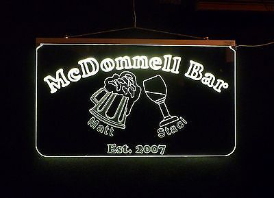 Personalized LED Sign, Bar Sign, Pub Sign, Wedding Sign, Personalized Gift image 8