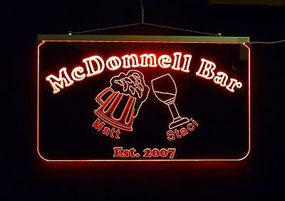 Personalized LED Sign, Bar Sign, Pub Sign, Wedding Sign, Personalized Gift image 7