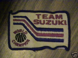 TEAM SUSUKI,WORLD CHAMP OLD RACING VTG PATCH RARE STOCK - $15.11