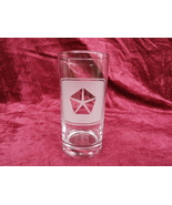 Chrysler Glass Tumbler Frosted Logo  - $12.99
