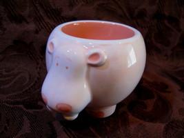 Pink Hippopotamus Hippo Egg Cup Collectible Chi... - $6.95
