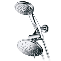 30-Setting Rainfall Shower Combo with ON/OFF Pause Switch, 5-7 Foot Hose... - $39.99