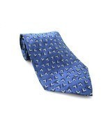 RALPH LAUREN Men's New 100% Silk Tie Blue White... - $66.79 CAD