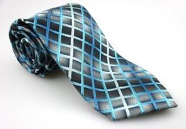 Men's New ALEXANDER JULIAN COLOURS Tie Blue Bla... - $19.55