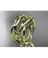 14kt yellow gold leaf and vine, flower wedding ring,wedding band ADLR352B - $1,450.00