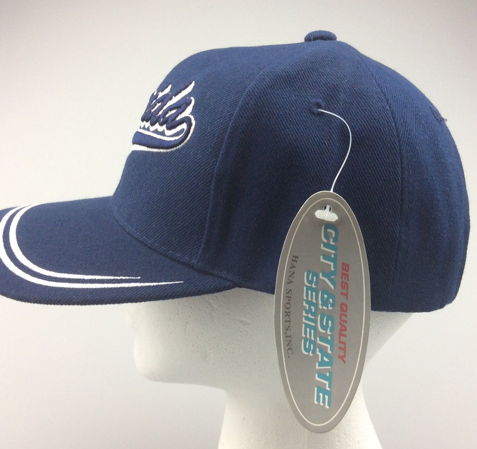 new baseball cap florida state curved black blue