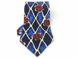 Men's New Geoffrey Beene 100% Silk Tie Blue Red... - $30.24