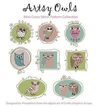 Artsy Owls cross stitch chart Pinoy Stitch - $13.50