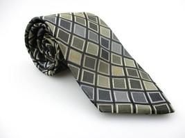 Men's New PERRY ELLIS PORTFOLIO 100% Silk Tie Green NWOT Necktie Ties GR092 - $16.38