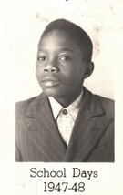 Vintage African American Photo School Class Young Boy Child Old Black Am... - $8.46