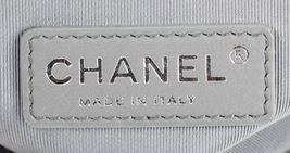 AUTH CHANEL LIMITED EDITION METALLIC SILVER PERFORATED LAMBSKIN MEDIUM BOY BAG  image 14