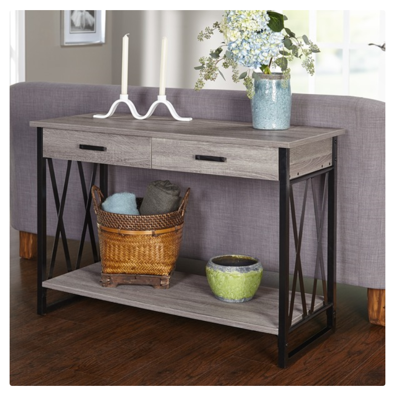 Furniture Simple Living Seneca Black Grey Reclaimed Look Sofa Table Tables