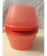 New Tupperware Modular Mates 2 Bowls w Locking Lids 2 C. Orange  - $17.00