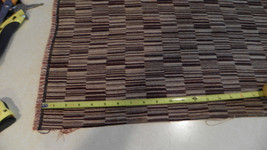 Brown Tan Abstract Print Upholstery Fabric  1 Yard  R - $24.95