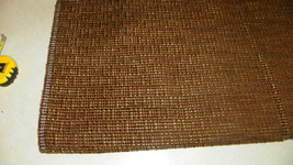 Brown Tan Green Speck Upholstery Fabric Remnant 1 Yard  R255 - $39.95