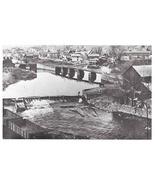 PA Lackawaxen Tow Path Bridge Double Locks Historical Society Postcard - $6.69