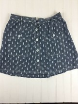 KEDS Girls Medium Skirt Gray with Pineapples Gray missing button x8 - £9.33 GBP