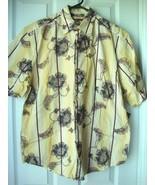 Lots of 2 New Havanera Co.Men's Short Sleeve Hawaiian Shirt Ochre Variet... - $24.74