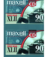 Blank Maxell Audio Tape -High Bias XLII - 90 minutes 2 New Maxell Tapes - $4.95