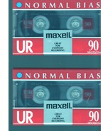 Blank Maxell Audio Tapes (2 New Tapes-UR - 90 minutes tapes) - $4.95