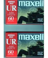 Blank Maxell Audio Tape 2 Blank Tapes New-Normal Bias- 60 minutes - $4.95