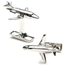 (1x1) Sterling Private Jet Cufflinks - $249.95