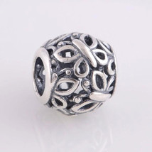 Sterling Silver Charm Openwork Butterfly Charm Bead Fits European Charm ... - $13.97