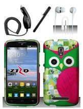 Alcatel One Touch Pop Mega LTE A995L Colorful Owl Design Hard Case Snap ... - $11.99