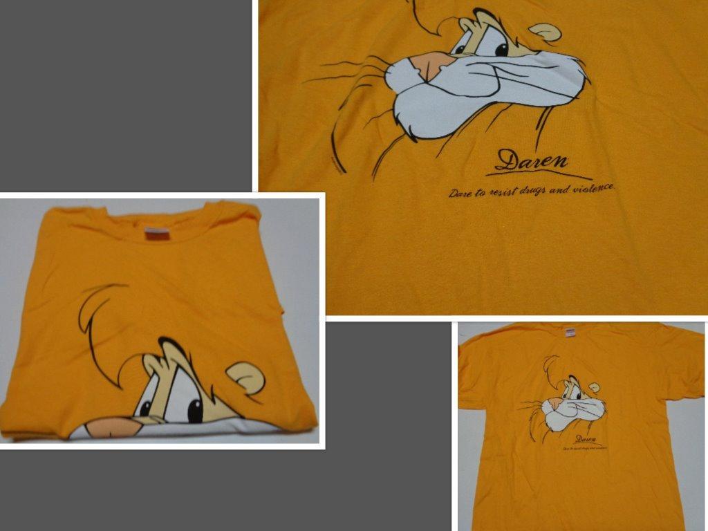 Dare tshirt yellow collage